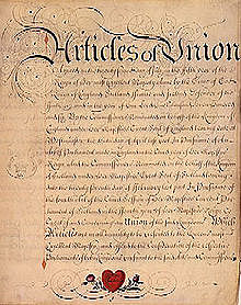 The Act of Union unites the Parliaments