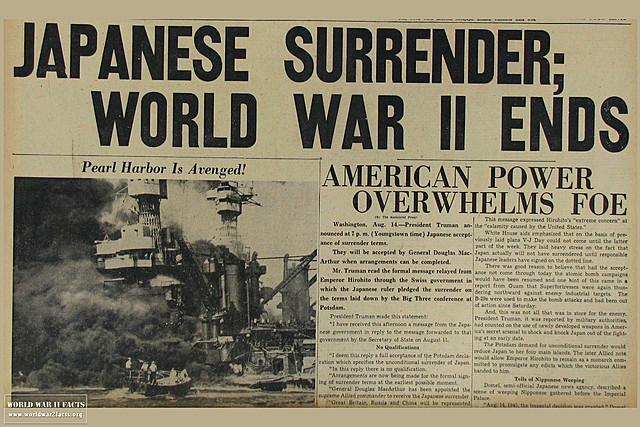 World War II ends.
