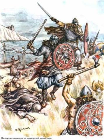 Viking raid on Lindisfarne