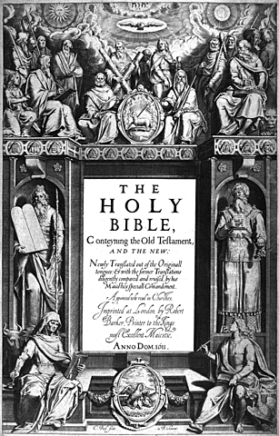 """The Authorized, or King James Version, of """"The Bible"""" is published"""