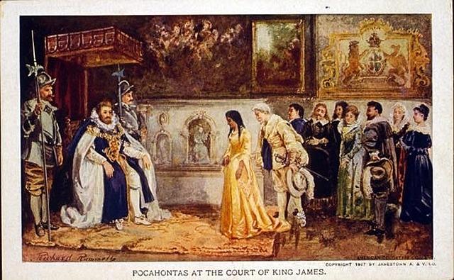 Pocahontas Travels to England