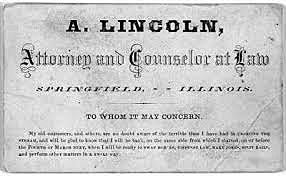 Lincoln advances in Law and Politics