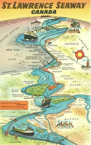 special coverage of the opening or the St.Lawrence Seaway