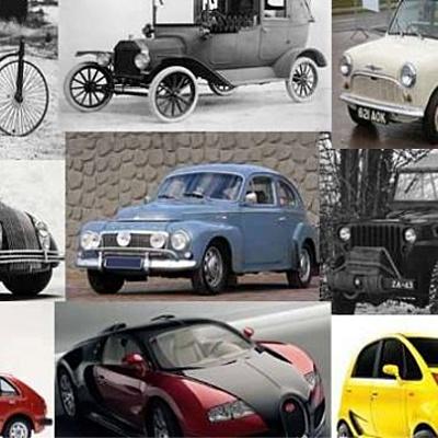 Evolución de el automóvil a través de la historia. timeline