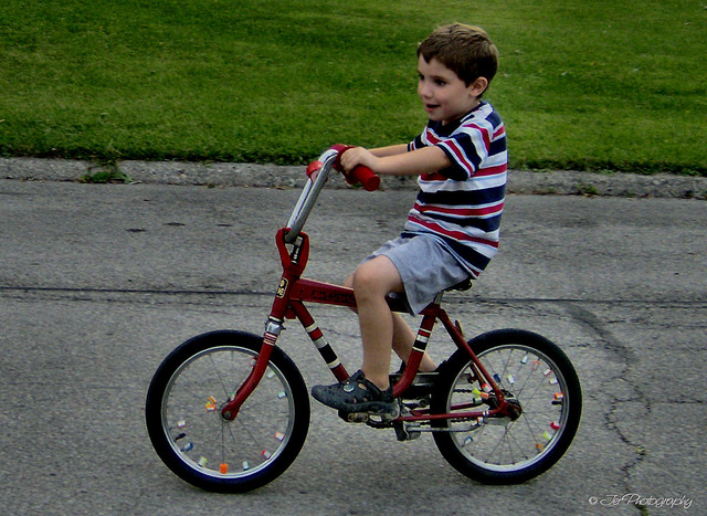 Learned how to ride a bike