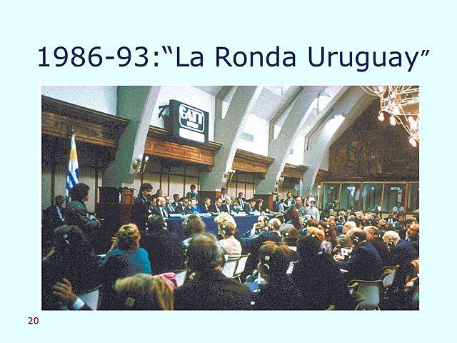 Finaliza la Ronda de Uruguay.