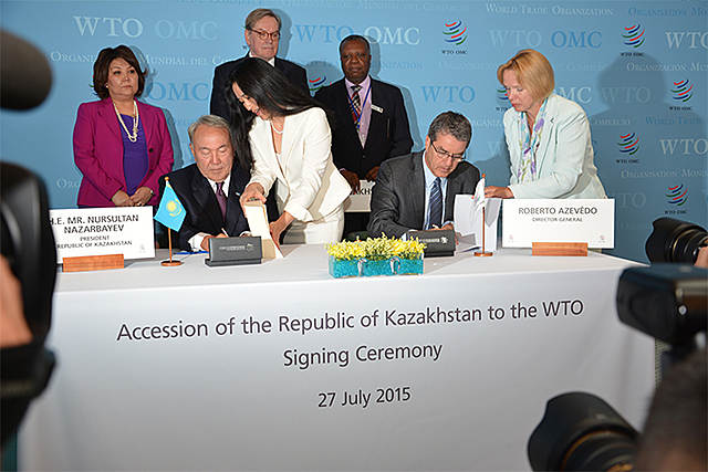 Noviembre de 2014. Kazajstán pasa a ser el 162º Miembro de la OMC.