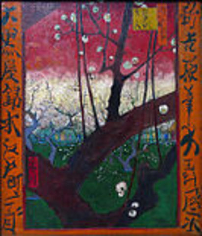 Plum Tree in Blossom (After Hiroshige) 1888