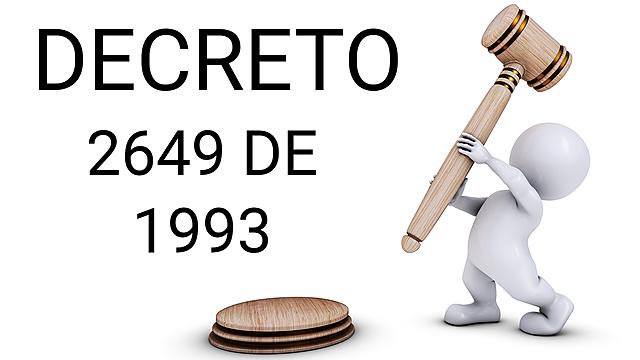 Decreto 2649 de 1993.