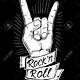 87351841 signo de la mano del rock and roll diseño de ilustración dibujado a mano