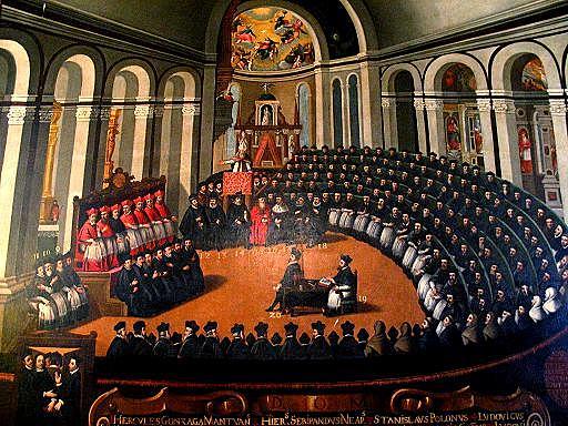 Da inicio el Concilio de Trento (1545-1563); crisma de la Iglesia.