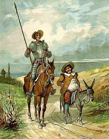 Cervantes escribe la 1a part del Quijote.