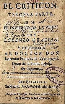 Gracián publica El Criticón.