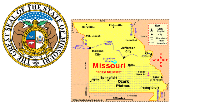 Missouri is admitted to the Union as a slave state.