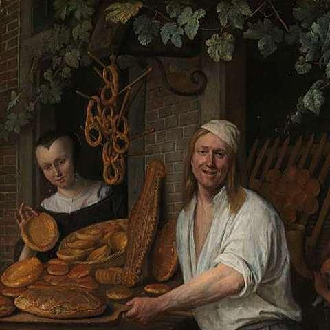 Bakker Arent Oostwaard en zijn vrouw Catharina Keizerswaard.