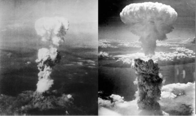 Dropping the atomic bombs on Hiroshima and Nagasaki