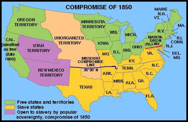 Congress prohibits slavery in the territories