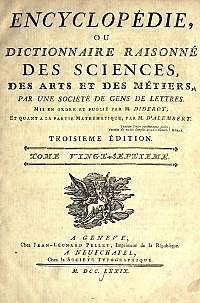 Se inicia la publicación de la Enciclopedia en Francia.