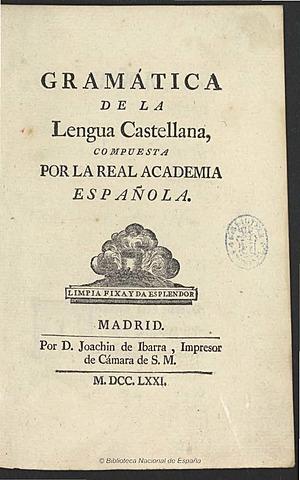 Publicación de la Gramática de la RAE.