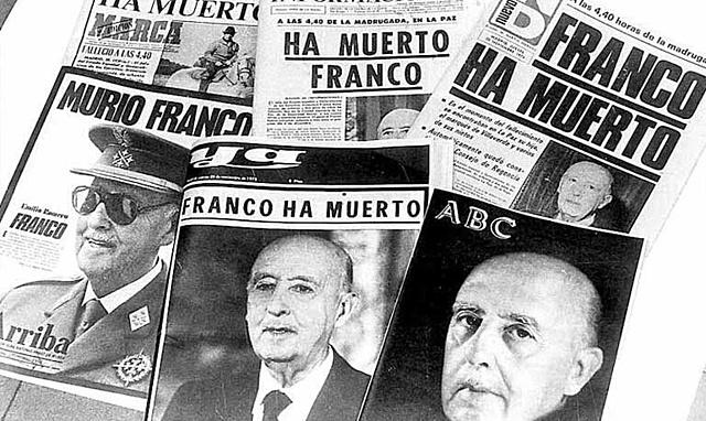 Muere Franco, Juan Carlos I, rey de España.