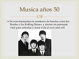 música años 50