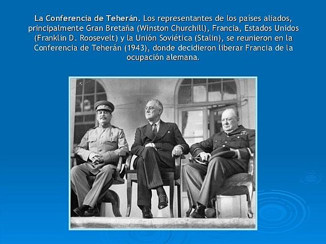 LA CONFERENCIA DE TEHERÁN