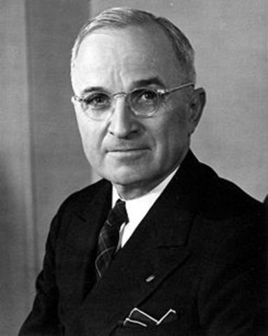 Roosevelt Dies and Truman takes office