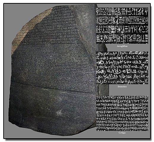 Egipto emplea las escrituras jeroglífica, hierática y demótica