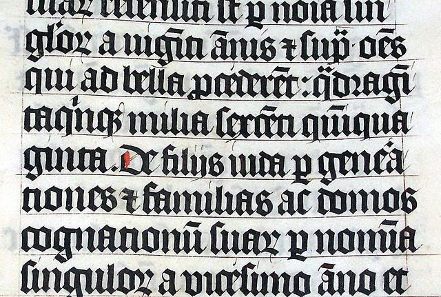 Modelo de escritura gótica