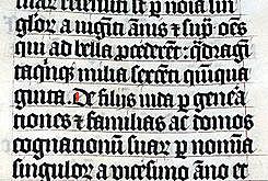 Escritura gótica de textura