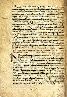 Primer manuscrito sobre papel