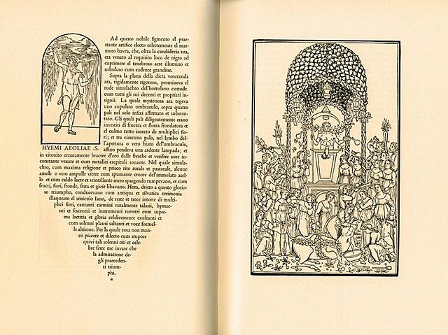 Manuzio combina los tipos de letra redondos e itálicos en los textos
