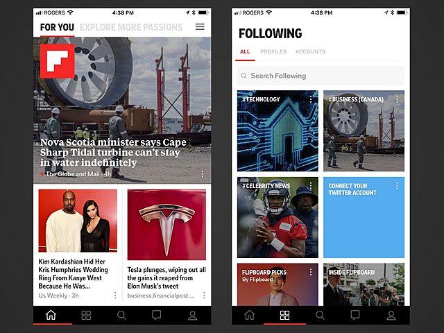 Flipboard, revista personalizada interactiva
