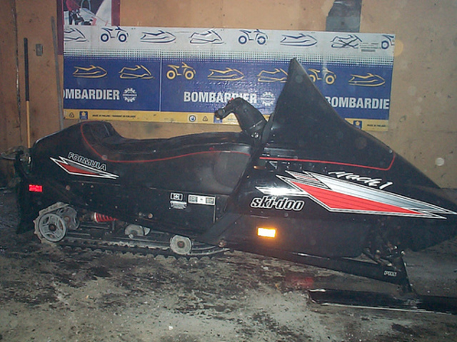 Got another new snowmobile to ride on trails with