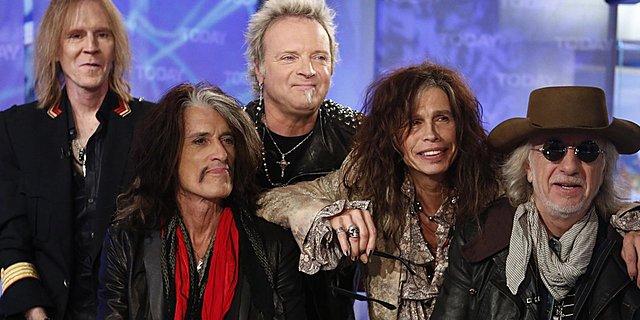 Aerosmith (creado en 1970 en Boston por Joe Perry, Tom Hamilton, Steven Tyler, Joey Kramer, Ray Tabano)