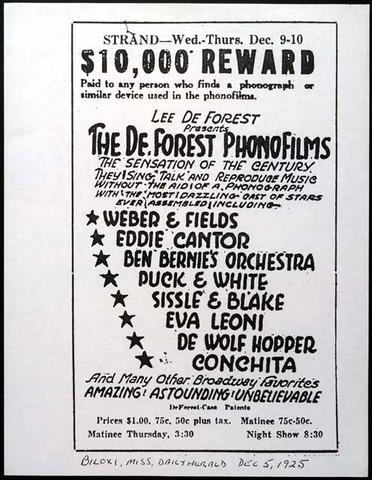 "Lee DeForest Patents ""Sound on Film"""