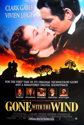 Civil War Epic Gone With The Wind Released in Theatres