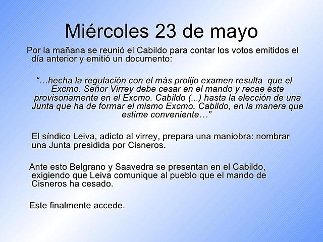 23 de mayo