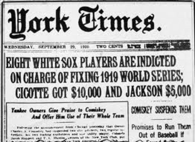The Black Sox Scandal