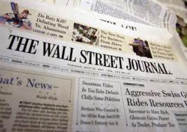 El WALL STREET JOURNAL sale en Internet.