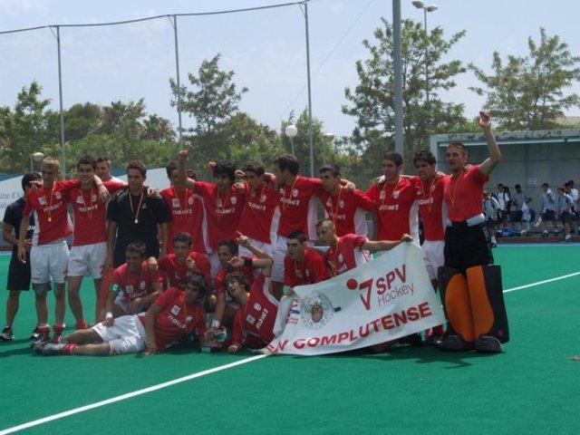 Victoria Equipo Juvenil Masculino Complutense de Madrid- Hockey Hierba