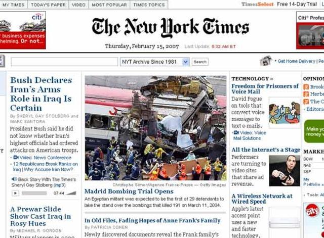 The new york times deja de publicar online.