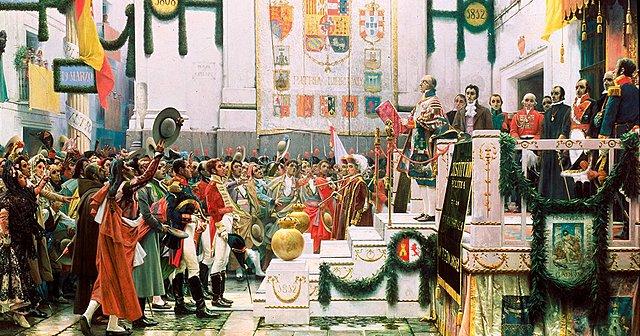 Inauguració de les Corts de Cadis.