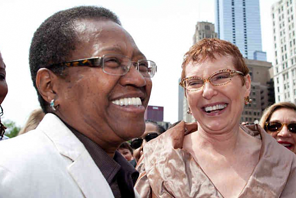 Pat Ewert & Venita Gray Become First Same-Sex Couple To Marry In Illinois
