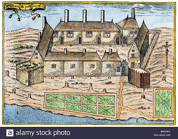 Champlain fundó Port- Royal en Acadia. ♧♧