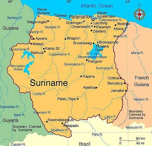 Apoderamiento de Surinam en Antillas. ◇◇