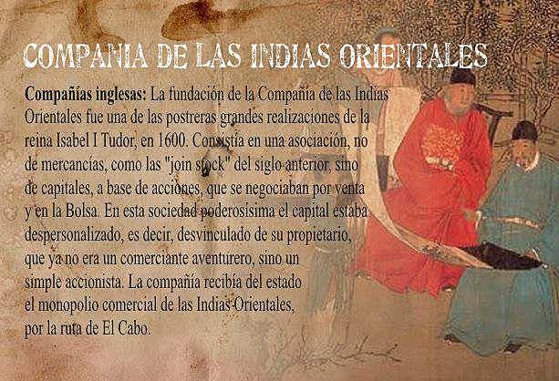 Fundación de la Compañía de Inglesa de las Indias Orientales. ○●
