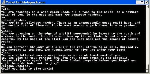 Premier jeu en ligne