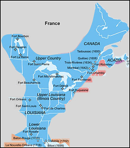 French Settlement in the Americas