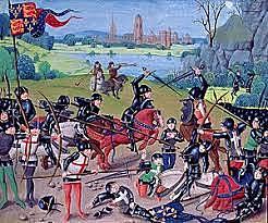 Eduardo III de Inglaterra es heredero de la corona francesa, comienza la Guerra de los Cien Años.